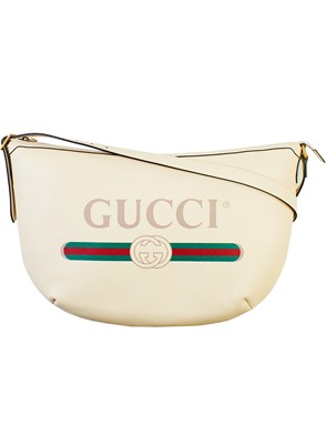GUCCI - WHITE HOBO MESSENGER BAG