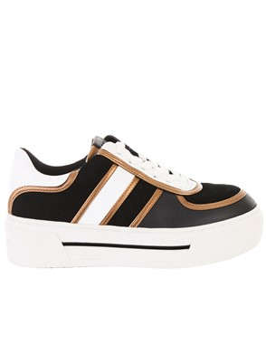 MICHAEL KORS - BLACK AND WHITE CAMDEN SNEAKERS