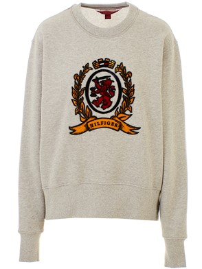 HILFIGER COLLECTION - GREY CREST SWEATSHIRT