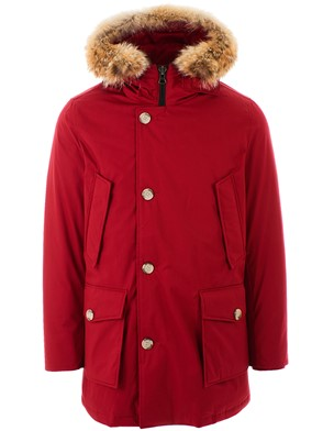 WOOLRICH - RED LAMINATED PARKA