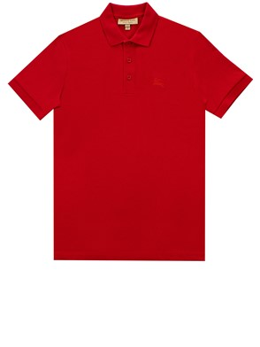 BURBERRY - POLO HARTFORD ROSSA