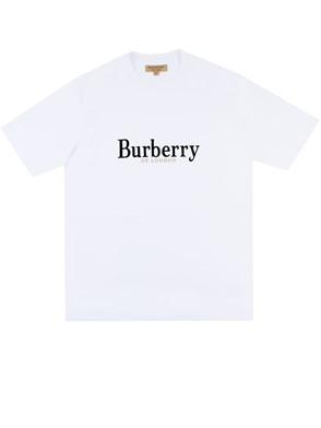 BURBERRY - T-SHIRT LOGO BIANCO