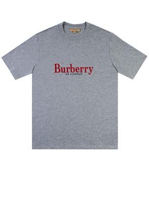 BURBERRY - T-SHIRT LOPORI GRIGIA