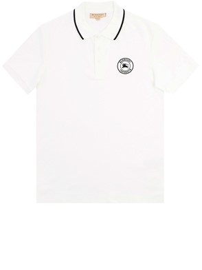 BURBERRY - WHITE MORETON POLO SHIRT
