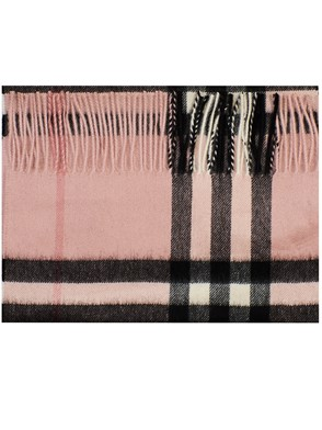 BURBERRY - PINK MU GIANT ICON SCARF