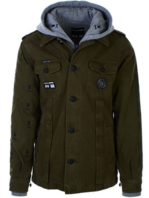 PHILIPP PLEIN - ARMY GREEN PLAYBOY PARKA