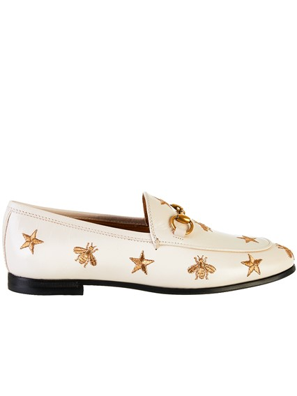 GUCCI WHITE QUENTIN LOAFERS