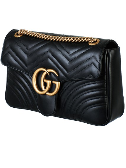 0bfcd0c244a gucci BLACK GG MARMONT BAG available on lungolivigno.com - 27157