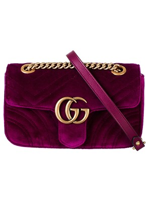 GUCCI - PURPLE MINI GG MARMONT BAG