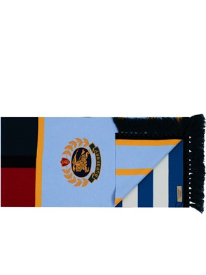 BURBERRY - MULTICOLOR FOOTBALL CREST SCARF