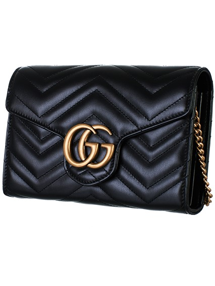 5d7c122c2b4 gucci BLACK GG MARMONT BAG available on lungolivigno.com - 27185