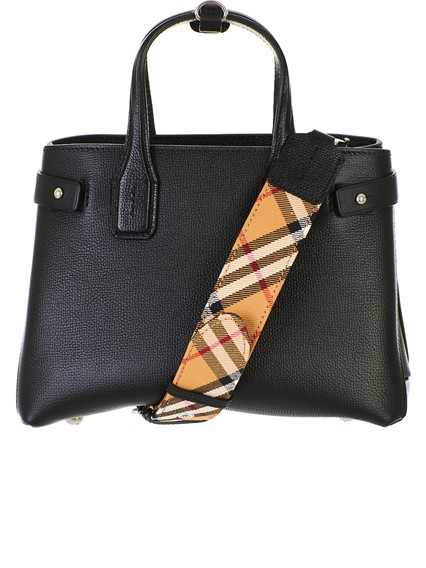 BURBERRY BLACK BANNER BAG