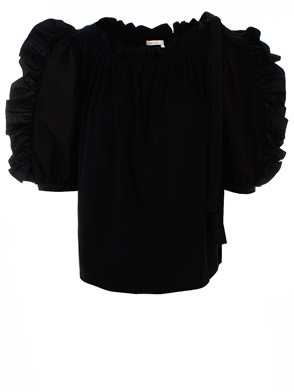SEE BY CHLOE' - BLACK POWDER BLOUSE