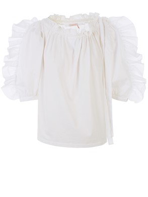 SEE BY CHLOE' - WHITE POWDER BLOUSE