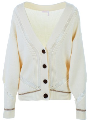 SEE BY CHLOE' - WHITE CRYSTAL OVER CARDIGAN