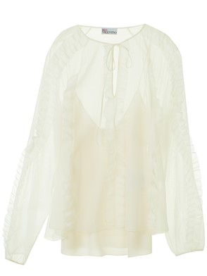 RED VALENTINO - CAMICIA ROUGE BIANCA