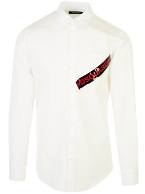 DSQUARED2 - WHITE STRETCH SHIRT