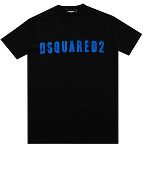 DSQUARED2 - BLACK AND BLUE T-SHIRT
