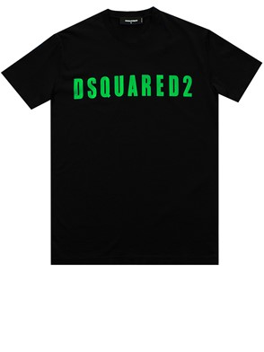 DSQUARED2 - BLACK AND GREEN T-SHIRT