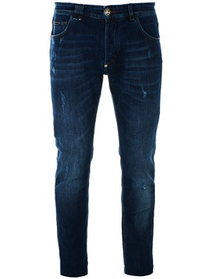 PHILIPP PLEIN - BLUE CUT FLEX SUPER STRAIGHT JEANS