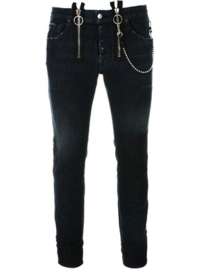 DSQUARED2 - DARK GREY SKATER JEANS