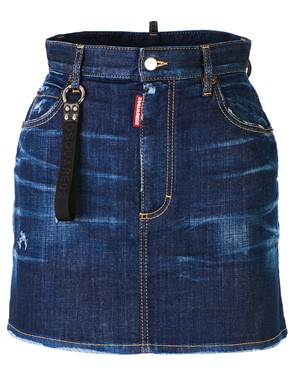 DSQUARED2 - BLUE DENIM MINISKIRT
