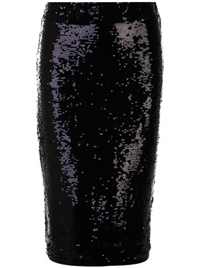MICHAEL MICHAEL KORS - BLACK SEQUIN SKIRT