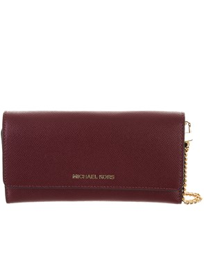 MICHAEL MICHAEL KORS - BURGUNDY CROSSBODY SMALL BAG