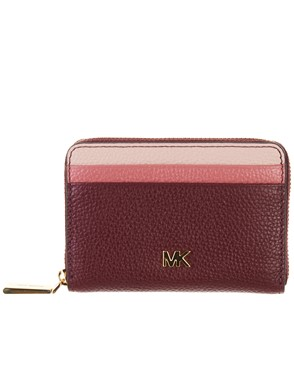 MICHAEL KORS - PINK AND BURGUNDY DOCUMENT HOLDER