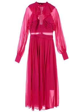 SELF PORTRAIT - VESTITO MIDI FUXIA