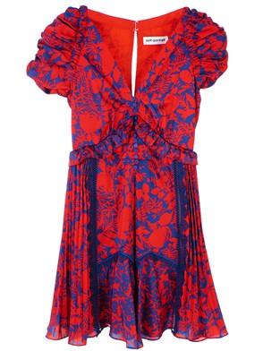 SELF PORTRAIT - BLUE AND RED DRESS