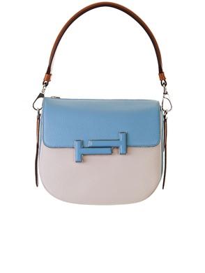 TOD'S - LIGHT BLUE AND WHITE BAG