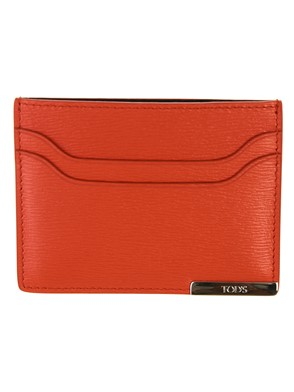TOD'S - ORANGE CARD HOLDER
