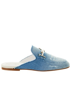 TOD'S - BLUE SLIPPERS
