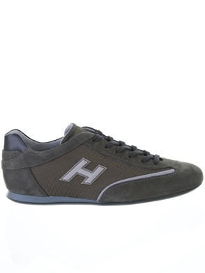 HOGAN - GREEN AND GREY OLYMPIA SNEAKERS