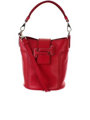 TOD'S - RED BUCKET BAG