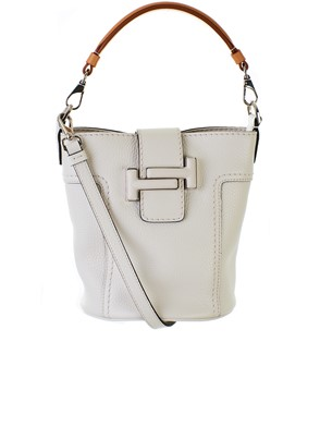 TOD'S - WHITE BUCKET BAG