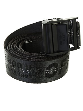 OFF WHITE - BLACK INDUSTRIAL BELT