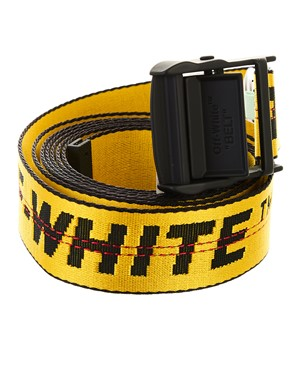 OFF WHITE - YELLOW INDUSTRIAL BELT