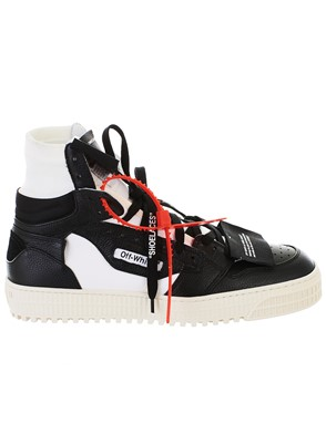 OFF WHITE - WHITE AND BLACK OFF COURT SNEAKERS