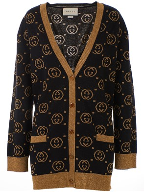 GUCCI - BLACK AND GOLD CARDIGAN