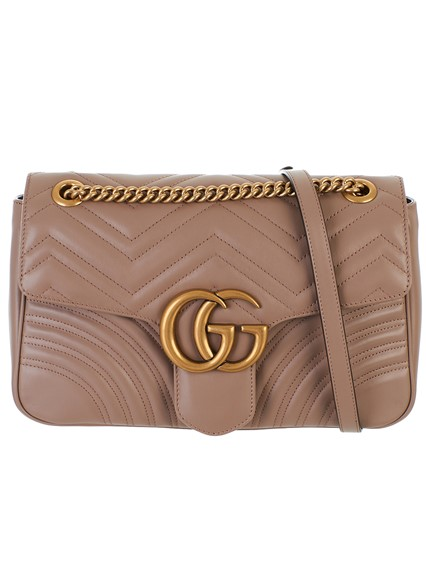 aae4c8e6cea54b gucci ANTIQUE PINK GG MARMONT BAG available on lungolivigno.com - 27462