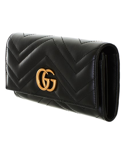 bd1f8f932c5b71 gucci BLACK GG MARMONT WALLET available on lungolivigno.com - 27465