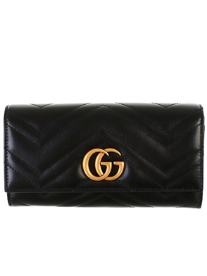 GUCCI - BLACK GG MARMONT WALLET