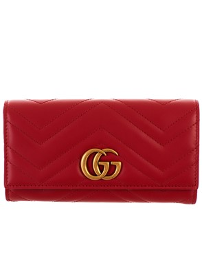 GUCCI - RED GG MARMONT WALLET