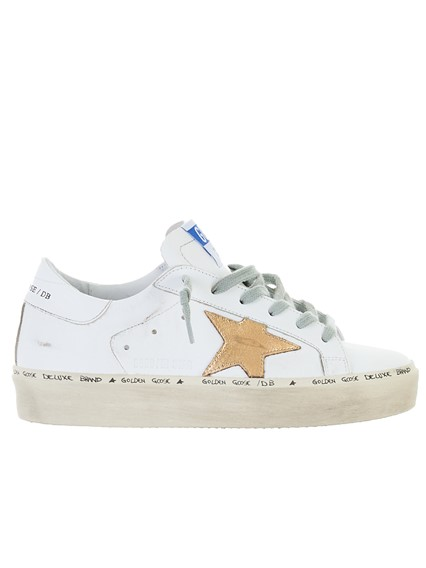 GOLDEN GOOSE DELUXE BRAND WHITE HI STAR SNEAKERS
