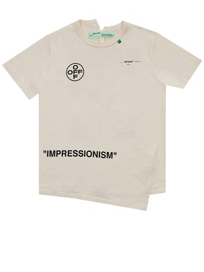 OFF WHITE - CREAM STENCIL T-SHIRT