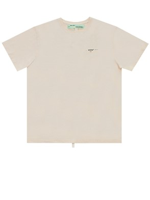 OFF WHITE - CREAM COLORED ARROWS T-SHIRT