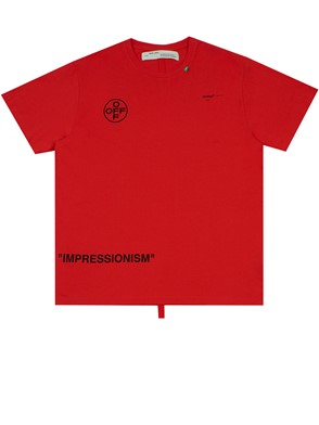 OFF WHITE - RED STENCIL T-SHIRT