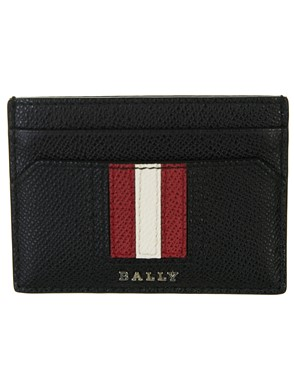 BALLY - BLACK CARRYOVER CARD HOLDER